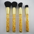 Manufacturer supply High-grade Acrylic handle 4 in 1 sets of makeup brush sets 3