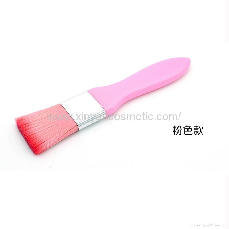 廠家供應彩色膠柄扁平面膜刷化妝刷 美容美妝工具化妝掃 4