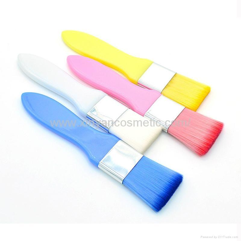 廠家供應彩色膠柄扁平面膜刷化妝刷 美容美妝工具化妝掃 1