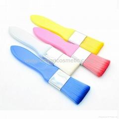 廠家供應彩色膠柄扁平面膜刷化妝刷 美容美妝工具化妝掃