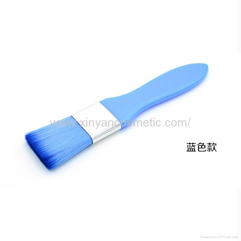 廠家供應彩色膠柄扁平面膜刷化妝刷 美容美妝工具化妝掃 7