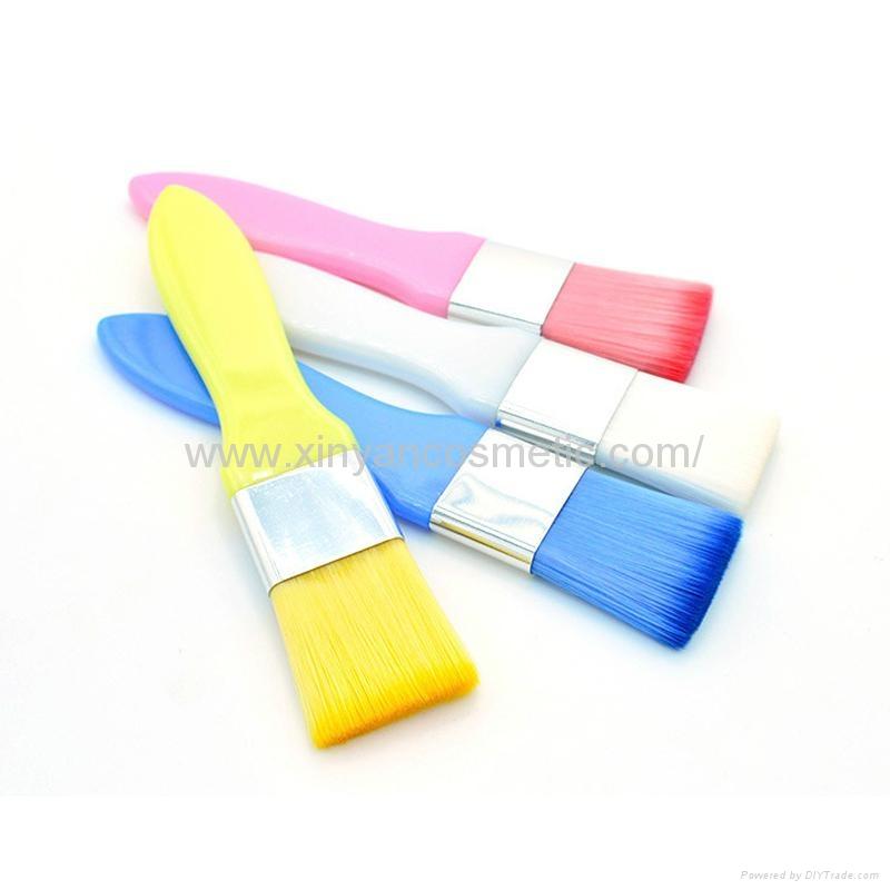 廠家供應彩色膠柄扁平面膜刷化妝刷 美容美妝工具化妝掃 8