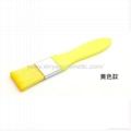 廠家供應彩色膠柄扁平面膜刷化妝刷 美容美妝工具化妝掃 5