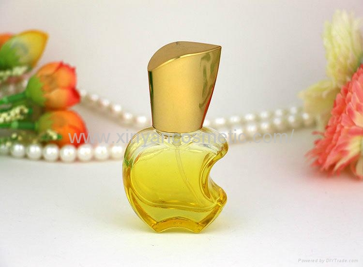 XINYANMEI supply 15ml Apple style Perfume bottle Color glass spray bottle 3