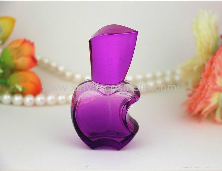 XINYANMEI supply 15ml Apple style Perfume bottle Color glass spray bottle 4