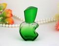新妍美供应15ml苹果款香水瓶 彩色玻璃喷雾瓶 铝喷头 空瓶 香水分装瓶 5