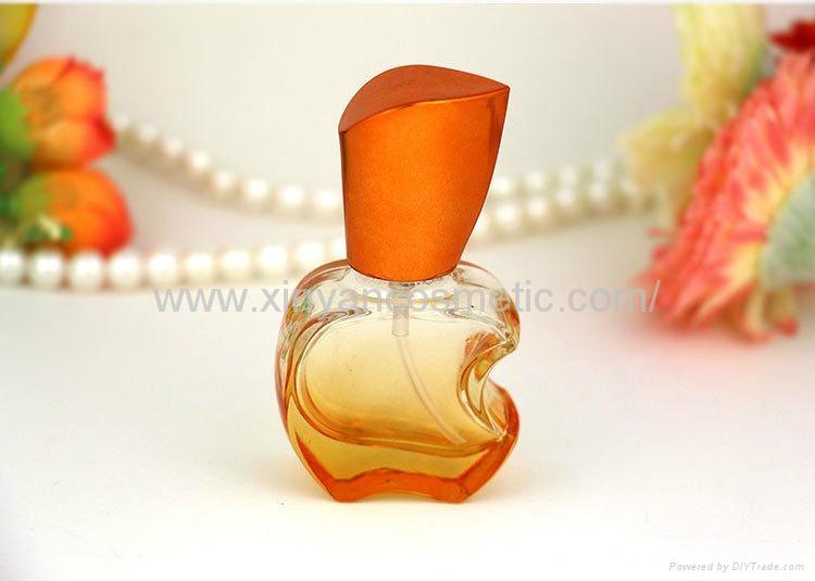 新妍美供应15ml苹果款香水瓶 彩色玻璃喷雾瓶 铝喷头 空瓶 香水分装瓶 6