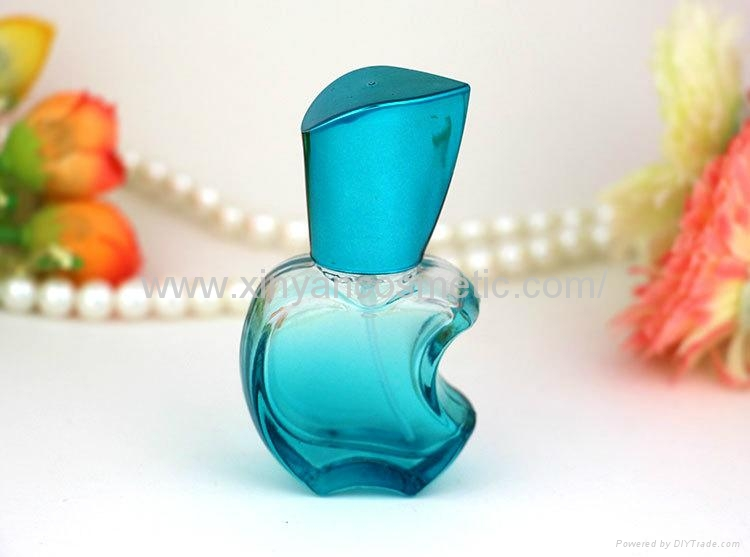 XINYANMEI supply 15ml Apple style Perfume bottle Color glass spray bottle 7