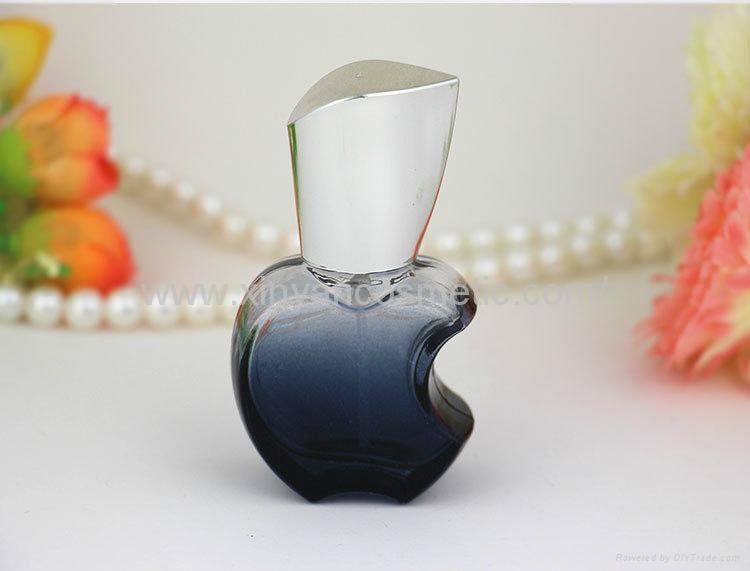 新妍美供应15ml苹果款香水瓶 彩色玻璃喷雾瓶 铝喷头 空瓶 香水分装瓶 8