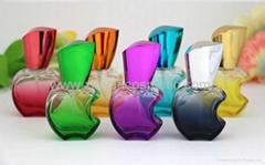 新妍美供應15ml蘋果款香水瓶 彩色玻璃噴霧瓶 鋁噴頭 空瓶 香水分裝瓶