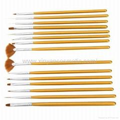 新妍美厂家供应美甲刷套装画花光疗笔 美甲笔工具 指甲刷全套