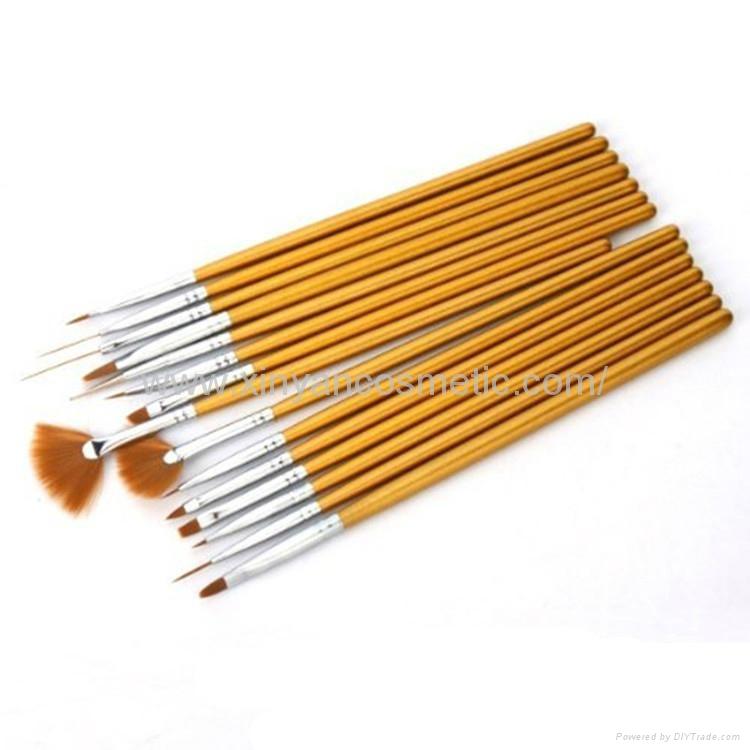 新妍美厂家供应美甲刷套装画花光疗笔 美甲笔工具 指甲刷全套  3