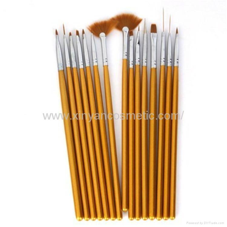 新妍美厂家供应美甲刷套装画花光疗笔 美甲笔工具 指甲刷全套  5