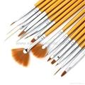 新妍美厂家供应美甲刷套装画花光疗笔 美甲笔工具 指甲刷全套  7