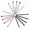 新妍美厂家供应5支迷你便携款式眼部化妆套刷  多色可选可定制颜色