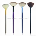 Manufacturer supply Wooden handle Imported synthetic fiber wool Powder brush 3