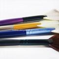 新妍美廠家供應多款木柄進口人造纖維散粉刷 可定製 5