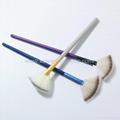 新妍美廠家供應多款木柄進口人造纖維散粉刷 可定製 7