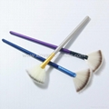 Manufacturer supply Wooden handle Imported synthetic fiber wool Powder brush 7