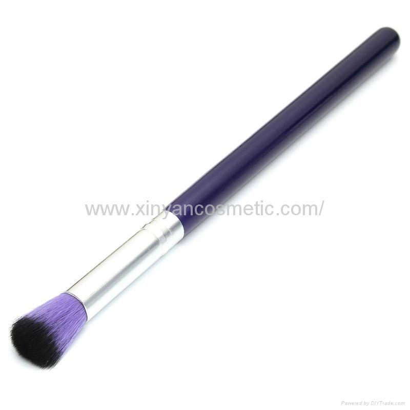 新妍美廠家供應10支木柄精美夢幻紫色化妝刷 美容美妝工具 5
