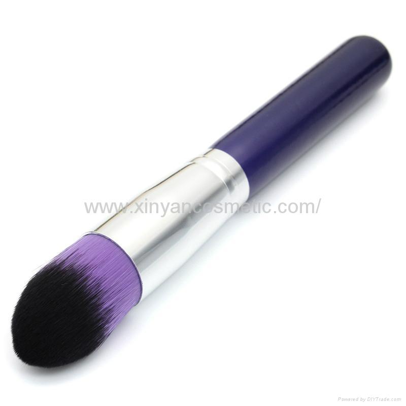 新妍美廠家供應10支木柄精美夢幻紫色化妝刷 美容美妝工具 3