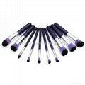 Manufacturer supply 10 Wooden handle Violet Cosmetic brush Beauty beauty tools