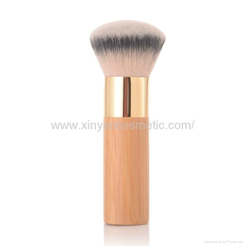 新妍美廠家供應竹子柄柔軟毛洗臉刷粉底刷 美容美妝工具化妝掃 1