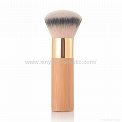 新妍美厂家供应竹子柄柔软毛洗脸刷粉底刷 美容美妆工具化妆扫