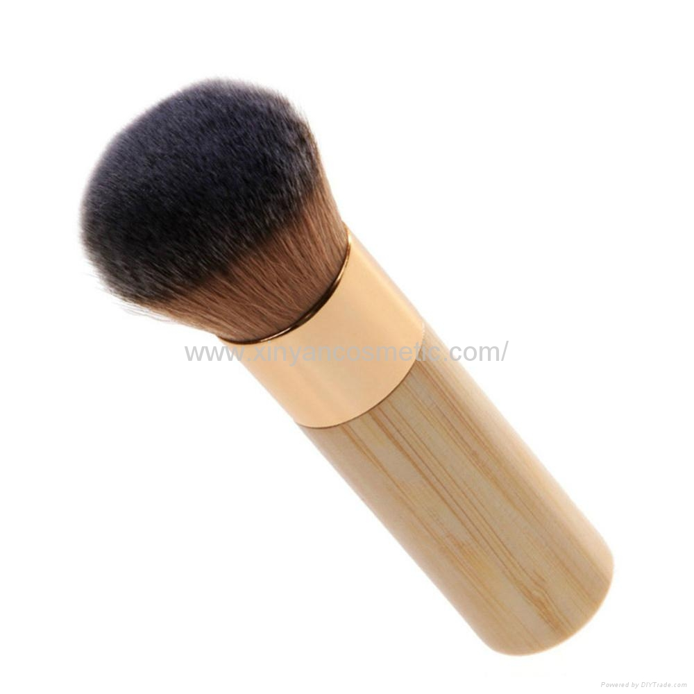新妍美厂家供应竹子柄柔软毛洗脸刷粉底刷 美容美妆工具化妆扫 2
