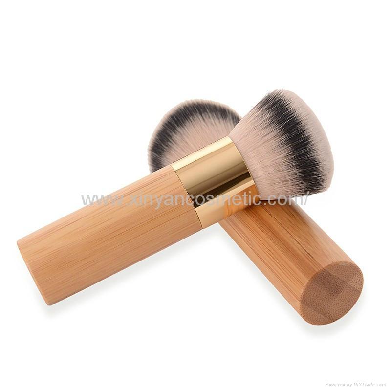 新妍美厂家供应竹子柄柔软毛洗脸刷粉底刷 美容美妆工具化妆扫 4