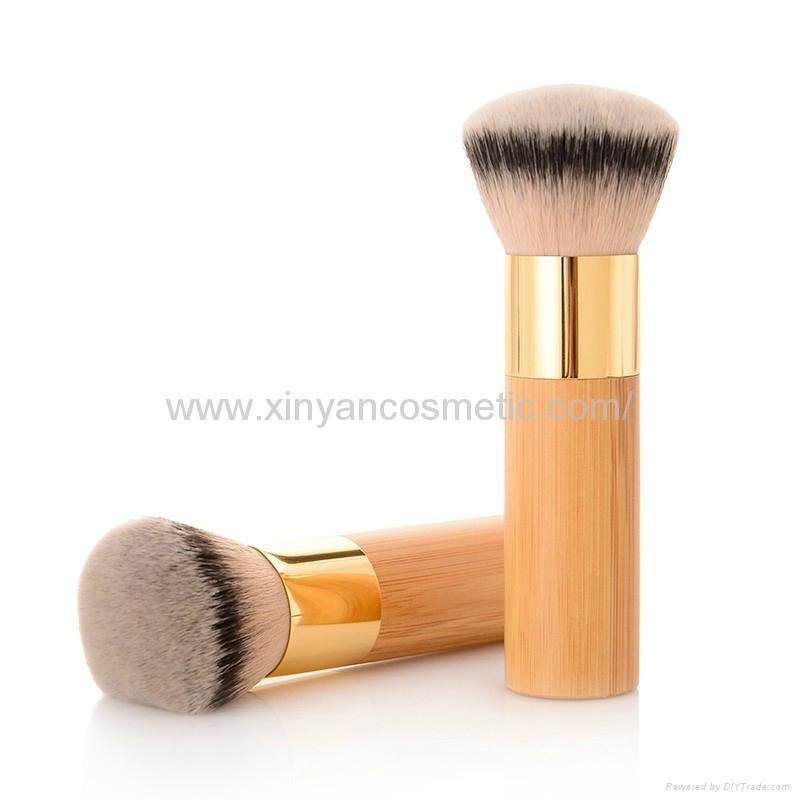 新妍美廠家供應竹子柄柔軟毛洗臉刷粉底刷 美容美妝工具化妝掃 5