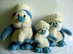 毛绒企鹅家族