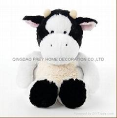 微波毛绒奶牛