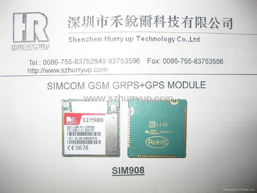 热卖库存 SIM908 GSM GPRS 无线通讯模块 1