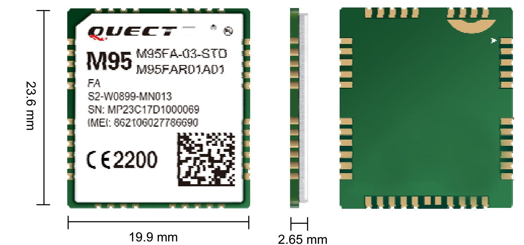 四頻GSM/GPRS 模塊 M95 2
