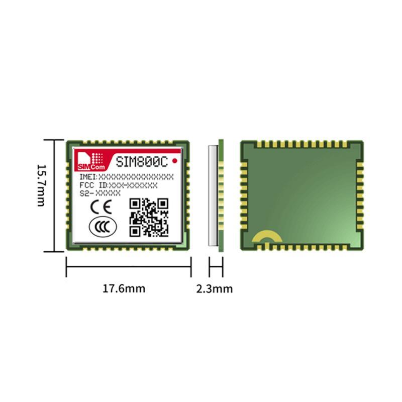 全新原裝 SIMCOM SIM800C GSM GPRS 模塊 SIM800C, 2G 通訊模塊LCC封裝 4