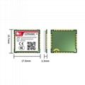 全新原装 SIMCOM SIM800C GSM GPRS 模块 SIM800C, 2G 通讯模块LCC封装 4