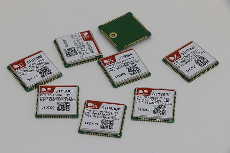SIMCOM SIM800F GSM GPRS 通讯模块, 2G模块LCC封装 1