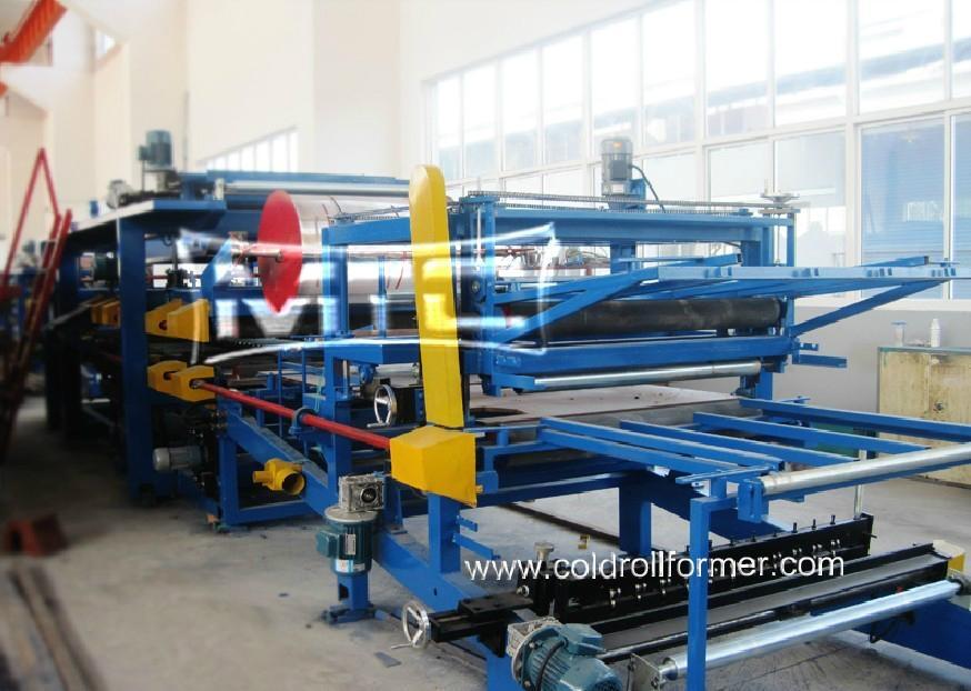 Eps Sandwich Panel Machine : Eps rockwool insulated sandwich panel production line