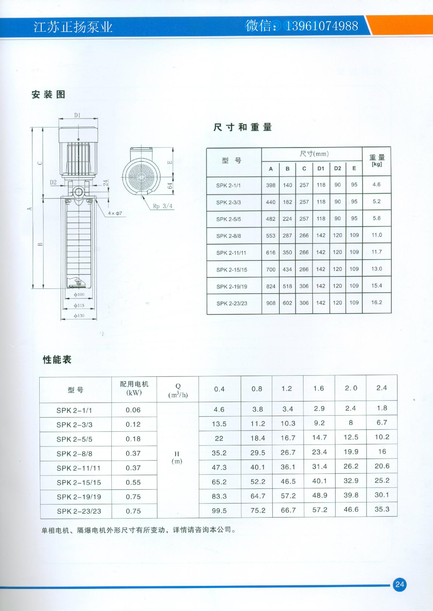 SPK泵 CRK TMR多级离心泵 替代 2