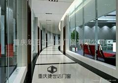 重庆双层玻璃百叶隔断