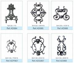 铁艺装饰铸件(500多种花型)
