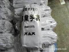 白色棉手套