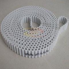 深圳双面齿同步带 白色加档片传动带 工业皮带