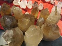 天然黃水晶柱