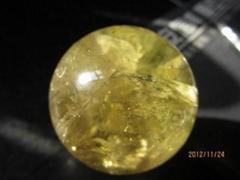 天然黃水晶球