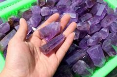 天然紫水晶水晶柱