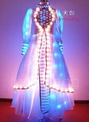 LED發光舞臺服飾/熒光晚禮服/發光裙子