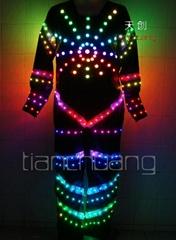 DMX512 Controlled Fullcolor LED Dance Costumes