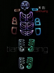 DMX512 controlled LED Light Fiber Optic Costumes (Hot Product - 1*)